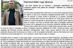 captura interviu idac