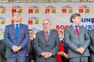 Miting USL la Piatra Neamț: Victor PONTA, Vasile PRUTEANU și Crin ANTONESCU