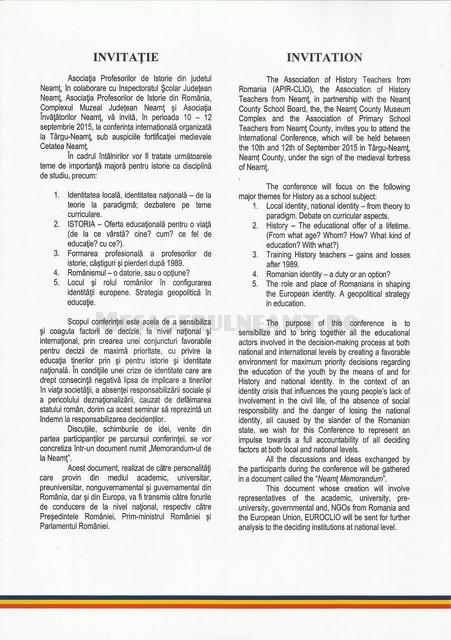 INVITATIA PROGRAM CONFERINTA ISTORIE NEAMT0002