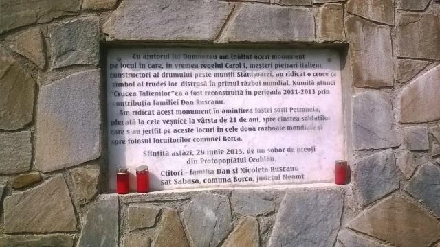 talieni 12 inscriptia de pe actuala cruce