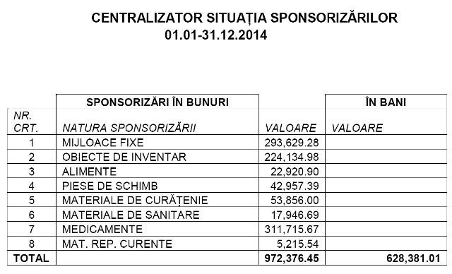 sponsorizari 2014