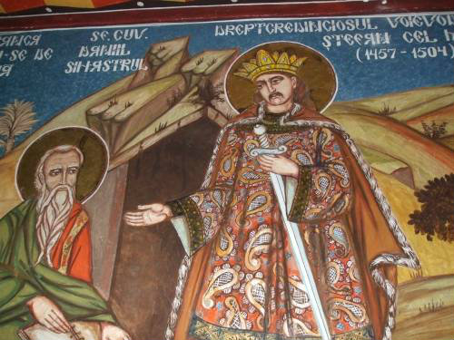 Sf Daniil Sihastru si Sf Stefan cel Mare