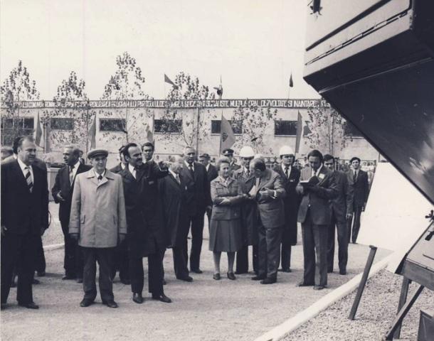 1980, 26 septembrie. Vizita de lucru la Întreprinderea Mecanica Ceahlăul Piatra Neamț